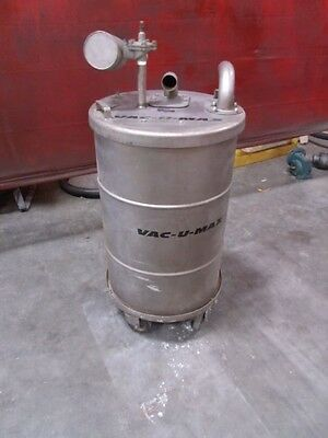Vac-u-max Wetdry Small Particle Operated Vacuum Cleaner Model Mdl-30