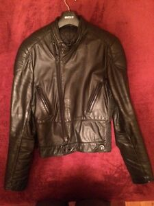 Veste de moto en cuir, Drospo/Taurus, Leather Motorcycle Jacket