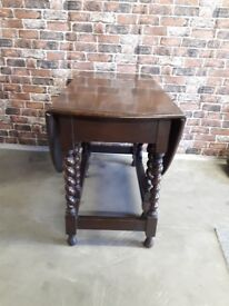 VINTAGE DARK WOOD FOLDING TABLE £30
