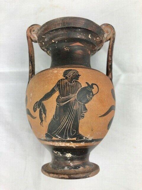 Ancient Greek Apulian Vase - Black Figure Volute Krater Circa 400BC - Undamaged