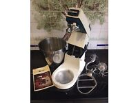 Vintage Kenwood Major In Full Working Order with Original Whisk, Dough Hook and Beater