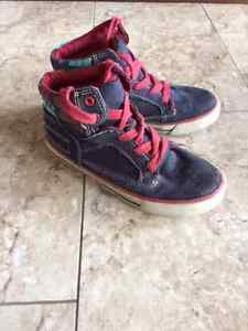 Children's Place Boys Kids Hi-top Sneakers Lace Up , size 1