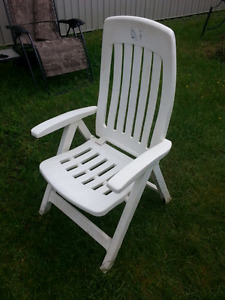 3 HD ADJUSTABLE & FOLDUP HIGHBACK wht YAWN patio CHAIRS
