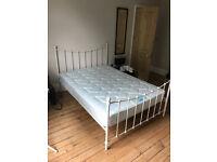 Metal Framed Double bed with Burlington Mattress