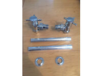 Pair Angled Crosshead Radiator Valves in Chrome (BNIB)