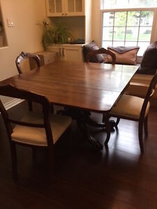 Claw foot folding table and 4 chairs
