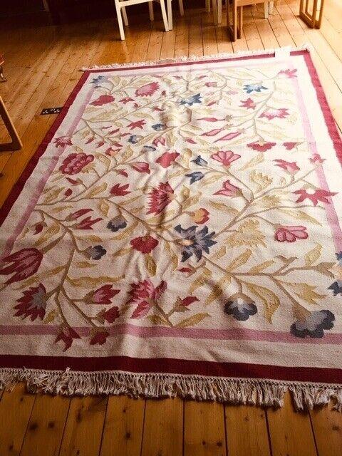 Ikea Alvine Flat Woven Wool Rug 170cm X 240cm Pink Blue Green Cream In Heaton Moor Manchester Gumtree