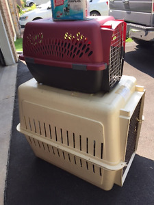Dog  crates, dog bed and diapers