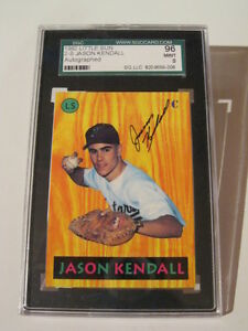 GRADED Jason Kendall - Signed Auto 1992 Little Sun London Ontario image 1