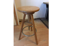 Ikea, wooden, screw-adjustable bar stool