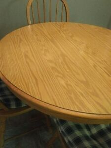 Price DROPPED - Solid OAK DINING SET Windsor Region Ontario image 3
