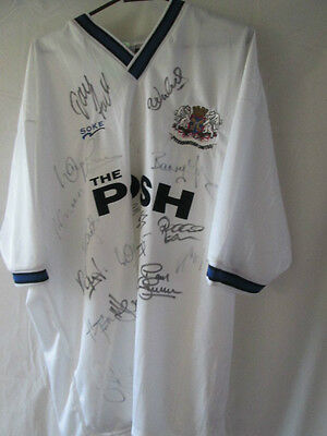 Peterborough United 2000-2001 Squad Signed Away Football Shirt Size Large /13913 image