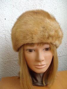 mint canadian brown pastel mink fur hat