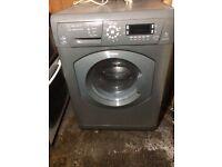 £136.00 Hotpoint grey washer n dryer+8kg+1600spin+3 months warranty for £136.00