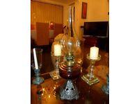 Antique Oil Lamp / Paraffin Lantern / Oil Burner / Victorian Oil Lantern
