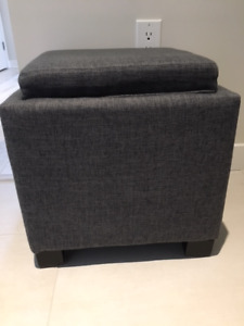 Small Storage Cube / Seat (Grey)