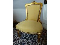 edwardian chaise longue and two chairs..parlour suite