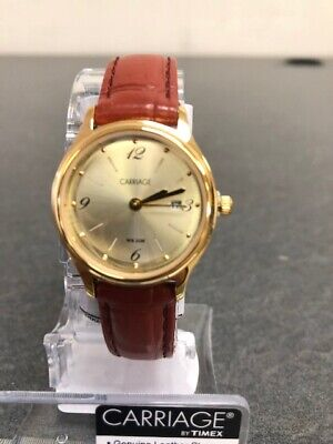 Timex Carriage C3C780, Women's Brown Strap Watch, Champagne Dial