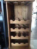 Solid Pine Country Wine Rack