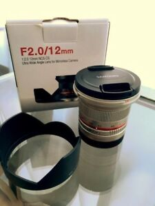 Samyang 12mm f2.0 wide angle lens for Sony E mount mirrorless