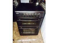 £124.39 Beko black ceramic electric cooker+60cm+3 months warranty for £124.39