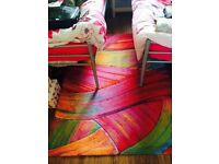 Home trends multi coloured carpet