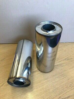 5 inch universal exhaust silencer 10 inch long 3 inch inlet