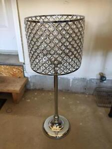 Gem and Silver Candle Lamp
