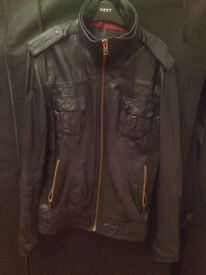 Superdry Leather Men's Jacket 2XL (Small Make)