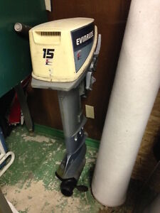 Evinrude LS 15hp, with plastic tank