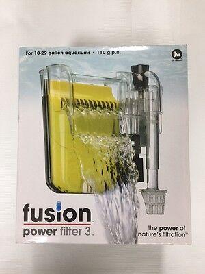 JW Fusion Power Filter 3 for 10-29 Gallon. 110 gph  Aquarium Filter