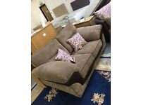 BRAND NEW 2 seat sofa + large swivel chair, £800 for the set.