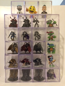 3 INCH SQAURE DISPLAY CASES PERFECT FOR KIDROBOT LEGO HOTWHEELS