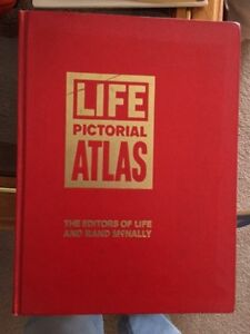 Huge Pictorial World Atlas by Rand McNally & Life Magazine