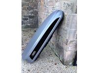 NEW GENUINE AUDI SKI LUGGAGE ROOF BOX LOCKABLE GREY BLACK 8V0071200 A4 Q5 Q3 Q7 300 litre