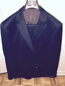 Zegna Men Classic Italian Dark Charcoal Suit Size 50 Costume