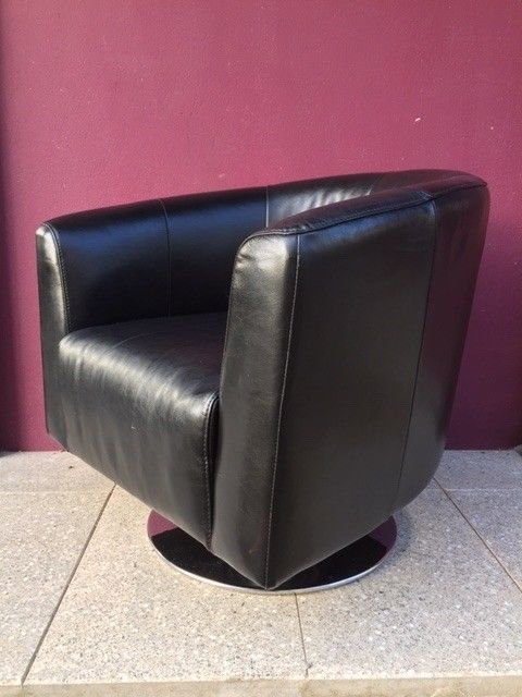Tremendous Black Leather Swivel Tub Chair In Cookstown County Tyrone Gumtree Squirreltailoven Fun Painted Chair Ideas Images Squirreltailovenorg