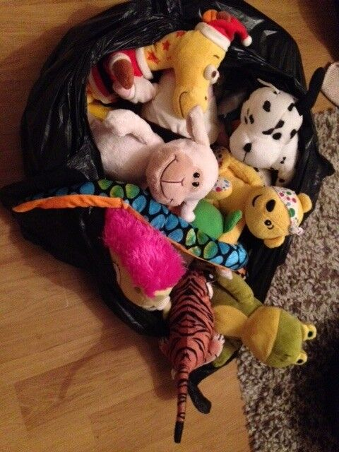 Bag of small teddies/soft toys - nice condition