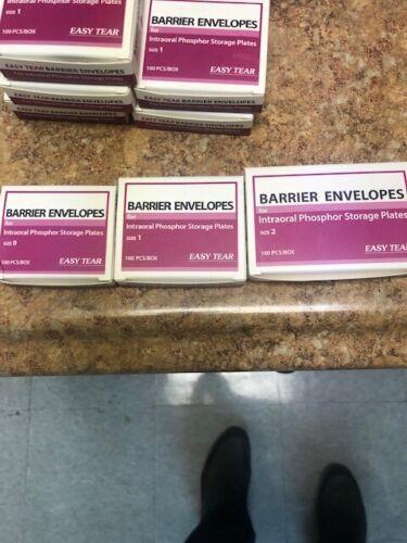 DENTAL BARRIER ENVELOPES SIZE 0,1,2  80 ENVELOPES    (SELLING THE LOT)