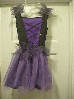 Purple Costume Dress Girl Size Small 4-6 Witch / Fairy / Princess By Walmart EUC