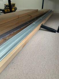 Slatted mattress base, dark grey Standard King ( Ikea)