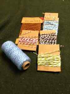 Baker's twine and ribbon