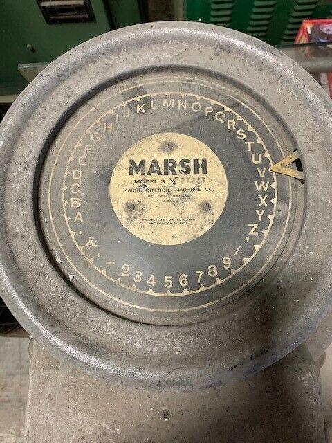 "Marsh Model S 3/4"" Stencil Machine"