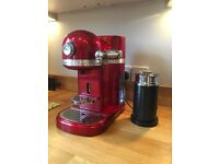 Nespresso KitchenAid Candy Apple Red Coffee Machine & Aeroccino
