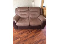 DFS GARRICK SUITE, 2 x 2 seaters, 1 chair 7 1 opening footstool, all manual reclining.