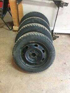 205/55r16 winter studded tires with rims