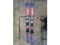 3 pairs of childrens Salomon X-Wing/Fury skis: 110cm and 2x120