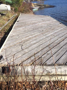 Free floating dock and ramp Georgian Bay