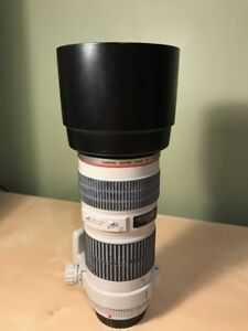 Canon 70-200mm f/4L... Like new... B+W filter, Tripod ring, Hood