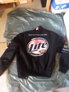 COATS JACKETS CLOTHING NASCAR ALL BRAND NEW TWILL & LEATHER